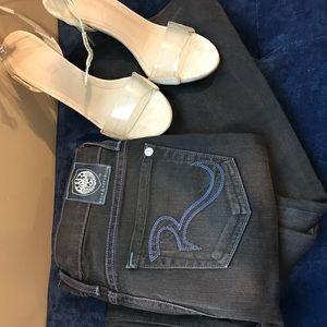 Rock and republic light black mid rise jeans